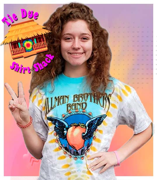 Tie Dye Shirts and Printed Official Rock Band Licensed Shirts