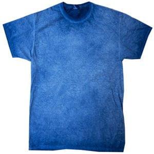 Royal Blue - Tie Dye Oil Wash T-Shirt