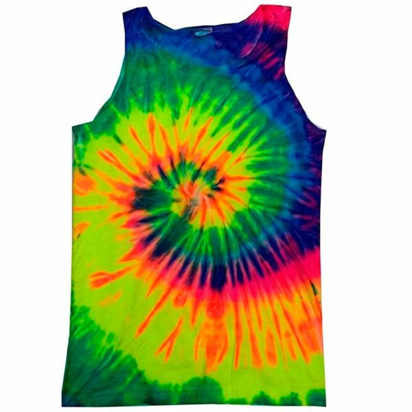 Unisex Tie-Dye Tank Top-Neon Rainbow